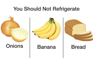 foods you should never put in refrigerator